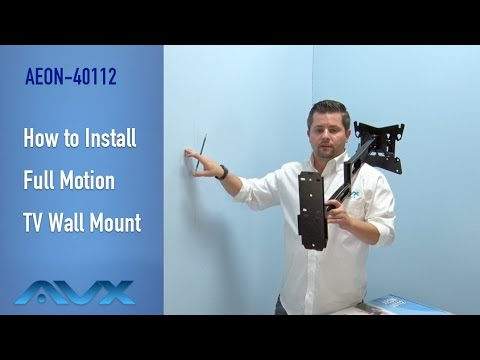 How To Install Full Motion Tv Wall Mount Aeon 40112 Youtube