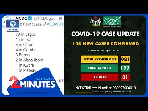 Update: Nigeria Records More COVID-19 Cases, Deaths