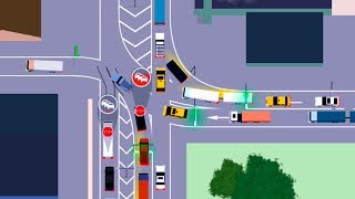 Intersection Controller (Traffic Lanes 3) Android GamePlay FullHD
