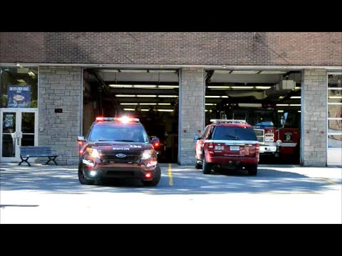 MONTREAL FIRE CHIEF AND TRUCK RESPONDING FROM STATION 5