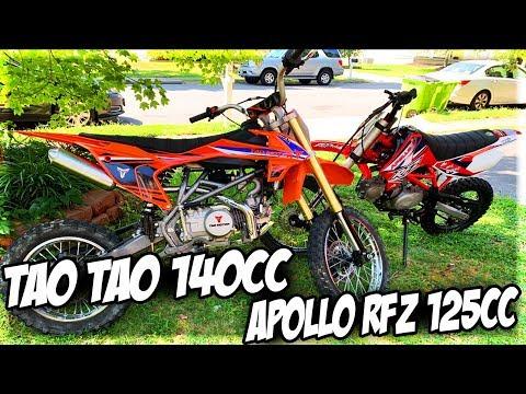 "Apollo 125cc RFZ Vs Tao Tao 140cc DBX1 Dirt/Pit Bike Race! ""What Bike's Faster?!"""