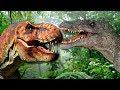 Dinosaurs - The battle of tyrannosaurus and spinosaurus