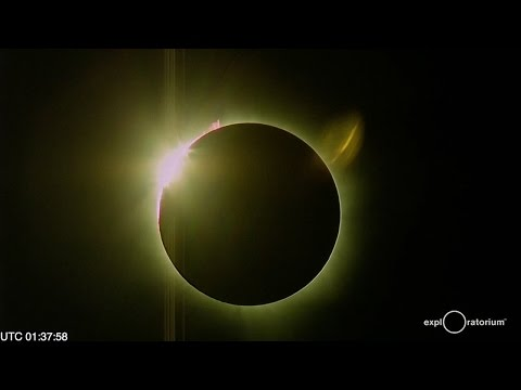Moment of totality for solar eclipse in Micronesia