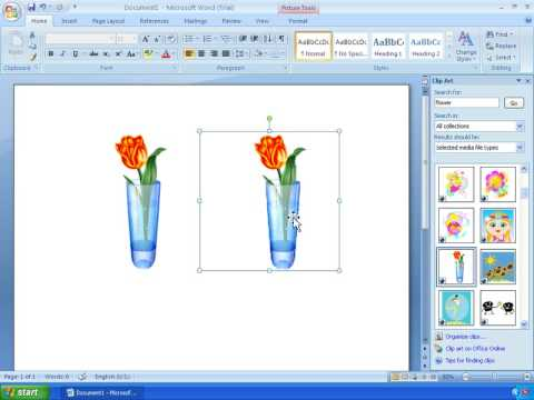 word 2007 tutorial 11 working with clipart youtube rh youtube com microsoft office 2007 clipart install microsoft office 2007 clipart free download