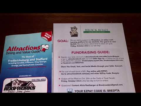 Attractions Book Fundraiser for Brock Road Elementary School