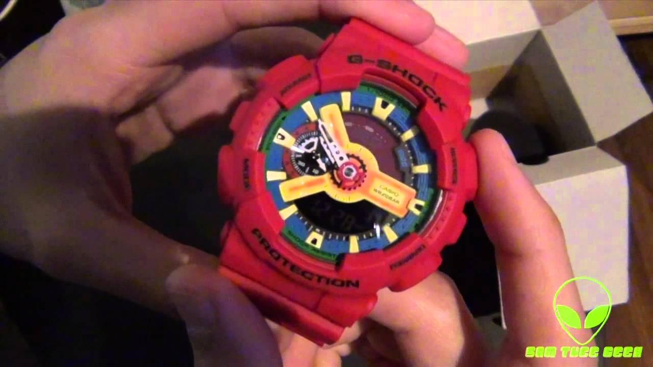 64bc10a775b Casio G-Shock Red Digital Watch Unboxing GA-110FC-1A - YouTube