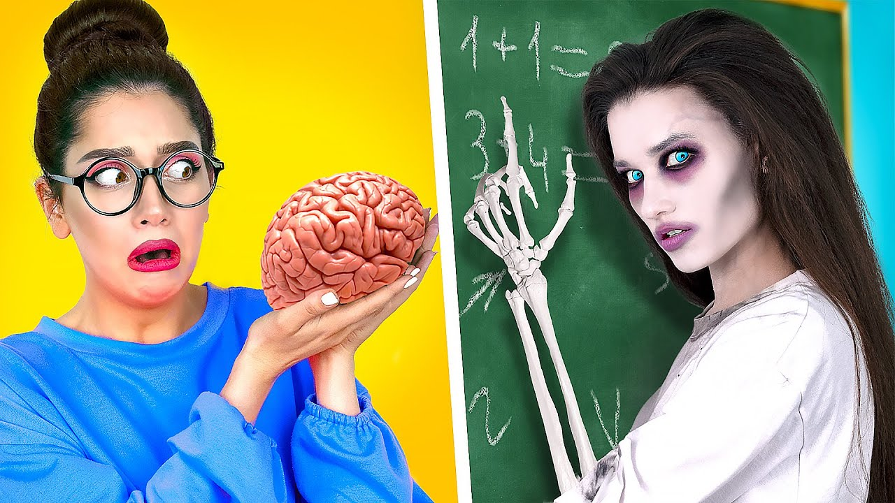 ZOMBIE at SCHOOL | Zombie girl's first day at school | What if your BFF is a zombie