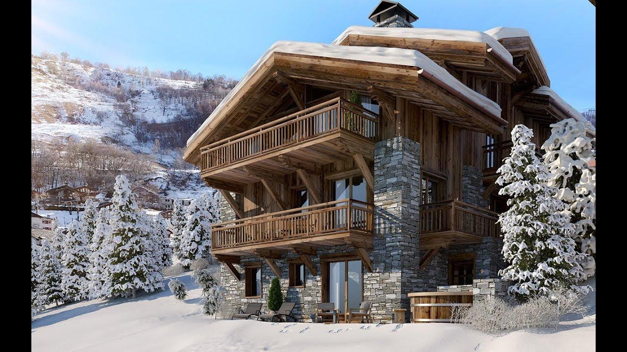 chalet pure black crystal film 3d vue 3d architecture 3d. Black Bedroom Furniture Sets. Home Design Ideas