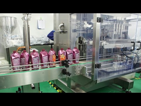 10 heads automatic linear filling machine for strong 84 disinfectant liquid cleaner bleach solution