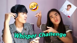 Heng Visalផោមស្អុយណាស់😂😂Whisper Challenge With My Sister / Drawing Life
