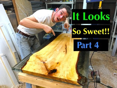 DIY: How to Make a Resin and Wood Coffee Table Using Stone Coat Countertops Epoxy Resin Part 4