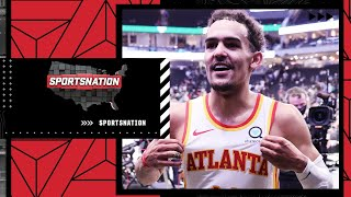 Trae Young lobbed an alley-oop off the glass and shimmied in his 48-point Game 1 | SportsNation