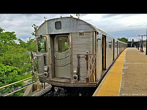 """""""On Board"""" NYC Subway: 1964 Budd Co. R32 on a Far Rockaway bound 🅐 Train"""
