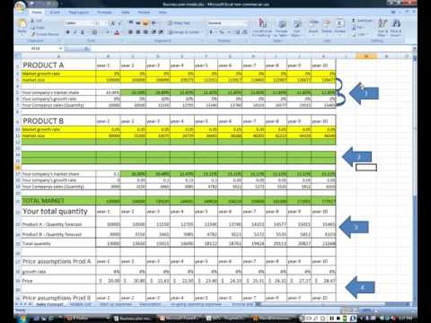 busines plan process MODULE  for sales and variable costs