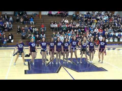 Mosinee High School Dance Team - Hip Hop Performance 1-26-16