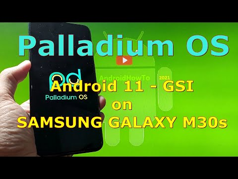 Palladium OS Android 11 for Samsung Galaxy M30s - GSI ROM