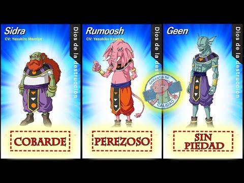 ESPECIAL: Los 12 DIOSES De La DESTRUCCIÓN (Personalidad, Universo, Actores) Dragon Ball Super