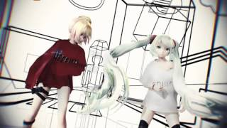 【MMD】Rather Be 【Miku ft. Neru】
