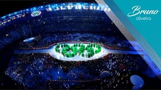 Cerimônia de Abertura Rio 2016 | Formação dos Anéis Olímpicos