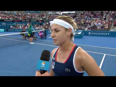 Dominika Cibulkova on court interview (2R) | Brisbane International 2017