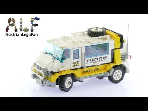 Lego Model Team 5550 Custom Rally Van - Lego Speed Build Review