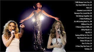 Download lagu Mariah Carey, Celine Dion, Whitney Houston Greatest Hits 2020 Best Love Songs Of The World