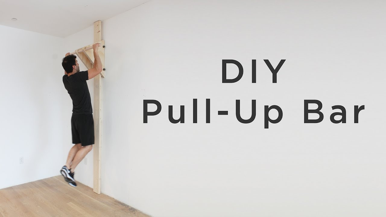 DIY Pull Up / Chin Up Bar | How to make a chin-up bar without a ...
