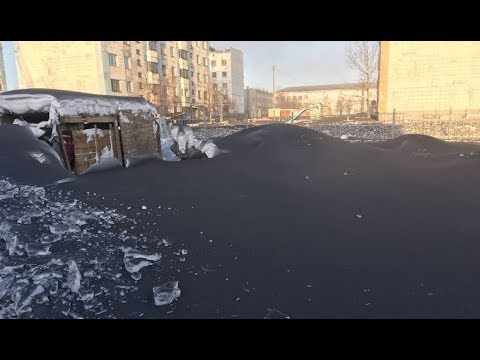 Black snow falls in Russian cities  The