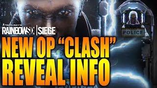 Rainbow Six Siege - In Depth: NEW DEFENDER OP - CLASH - REVEAL TRAILER & INFO!
