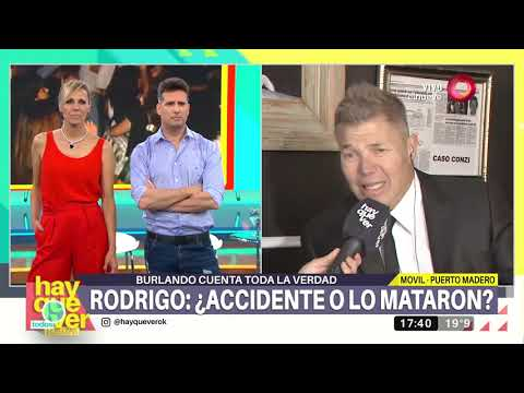 Burlando cuenta toda la verdad sobre la trágica muerte de Rodrigo