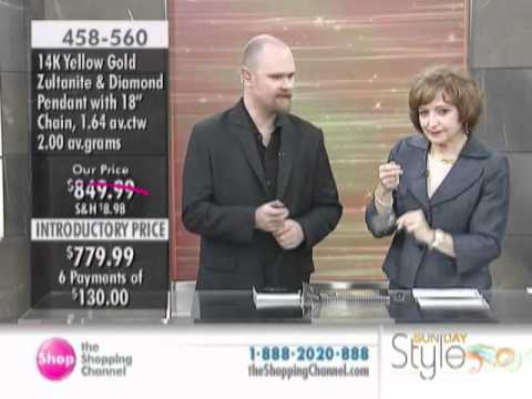 14K Gold Zultanite & Diamond Pendant with Chain at The Shopping Channel 458560