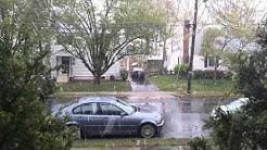 Snow! Arlington, Virginia. April 9, 2016. Climate weirding. #climate change.