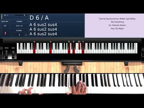 My Everything  Yolanda Adams  Piano Tutorial