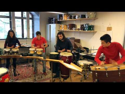 Probe des »Art Government Percussions« zum »Klingendes Schloss«