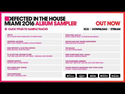 Defected In The House Miami 2016 Album Sampler