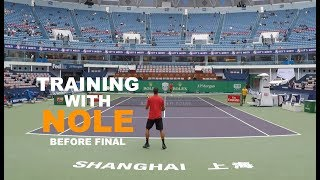 Fifth Training With Novak Djokovic - Part 1 | Final Warm Up - Shanghai Masters 2018 (TENFITMEN)
