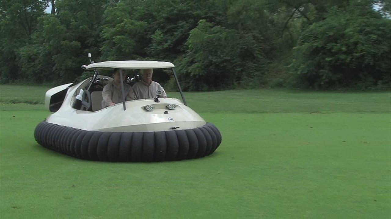 ebd05d6d098 Using a hovercraft as a golf cart - YouTube