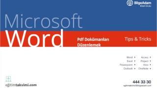 Microsoft Word Tips & Tricks : Pdf Dökümanları Düzenlemek - Temel, İleri Seviye Excel Eğitimi
