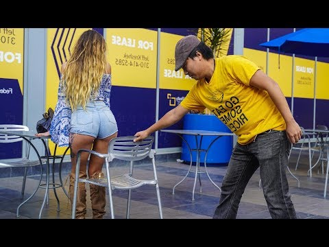 Chair Pulling Prank in Hollywood!!!