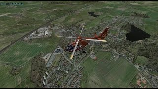 Christoph 12 landung am LRZ in Xplane 10