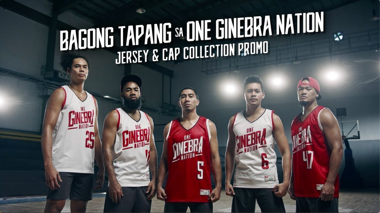 Bagong Tapang sa One Ginebra Nation Jersey and Cap Collection Promo