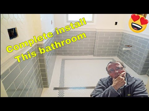 Complete bathroom Schluter systems products, Parts 1 through 5