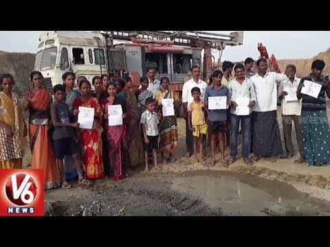 Sitarama Project Land Oustees Protest Over Delay In Compensation | Khammam Dist | V6 News