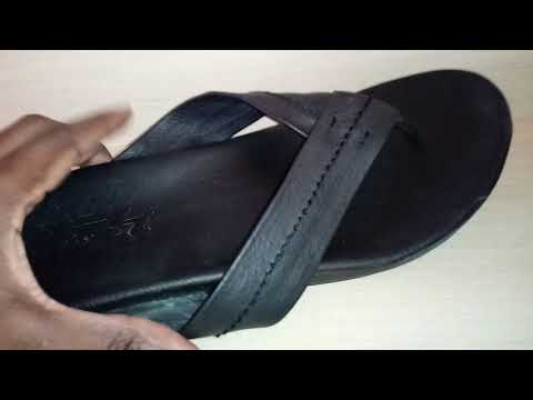 f1a4aa7db6a Toms Semana Full Grain Black Leather Flip Flop Sandal Review. Watch N Shoes.