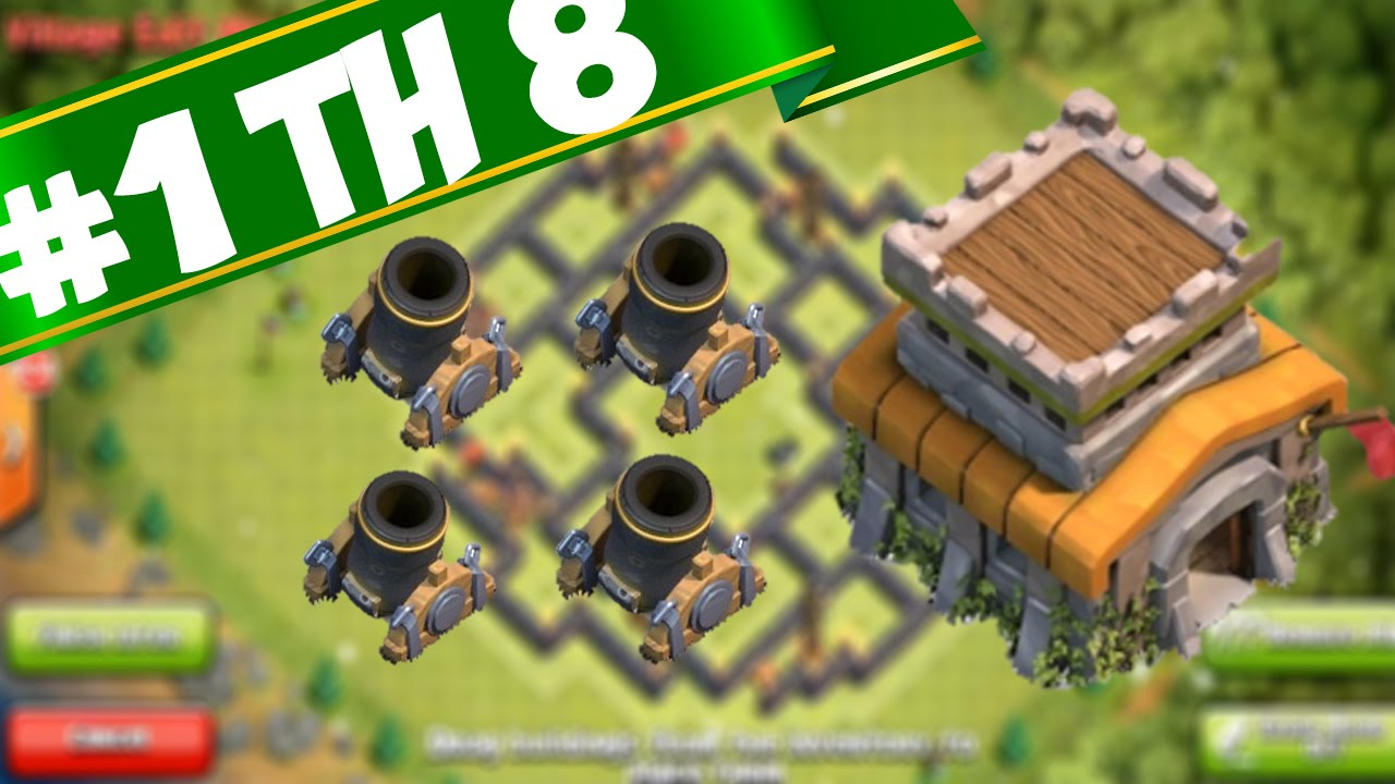 Unbeatable de th8 farming base with 4 mortars clash of clans speed