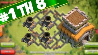 UNBEATABLE DE TH8 FARMING BASE WITH 4 MORTARS - CLASH OF CLANS | SPEED BUILD