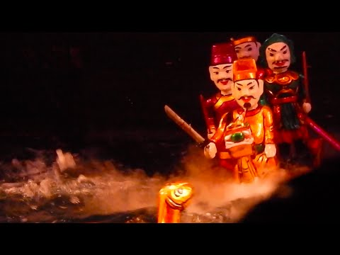 Vietnam Culture / History Explained via Water Puppets | Hanoi