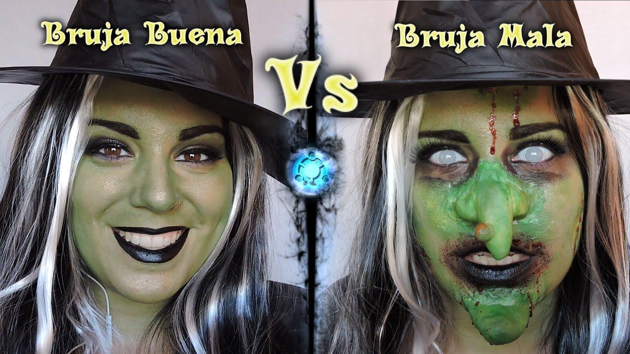 Maquillaje de Bruja Buena Vs Mala para Halloween FX Gore 9