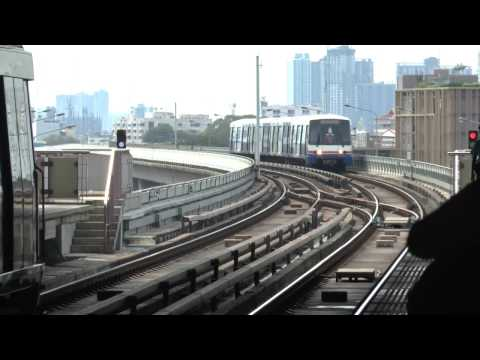 Wongwian Yai BTS  skytrain Station views at Bangkok ,Thailand
