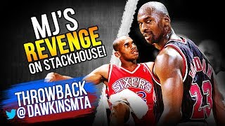 The Game Michael Jordan Abused Rookie Jerry Stackhouse For Trash Talking Him! | VintageDawkins